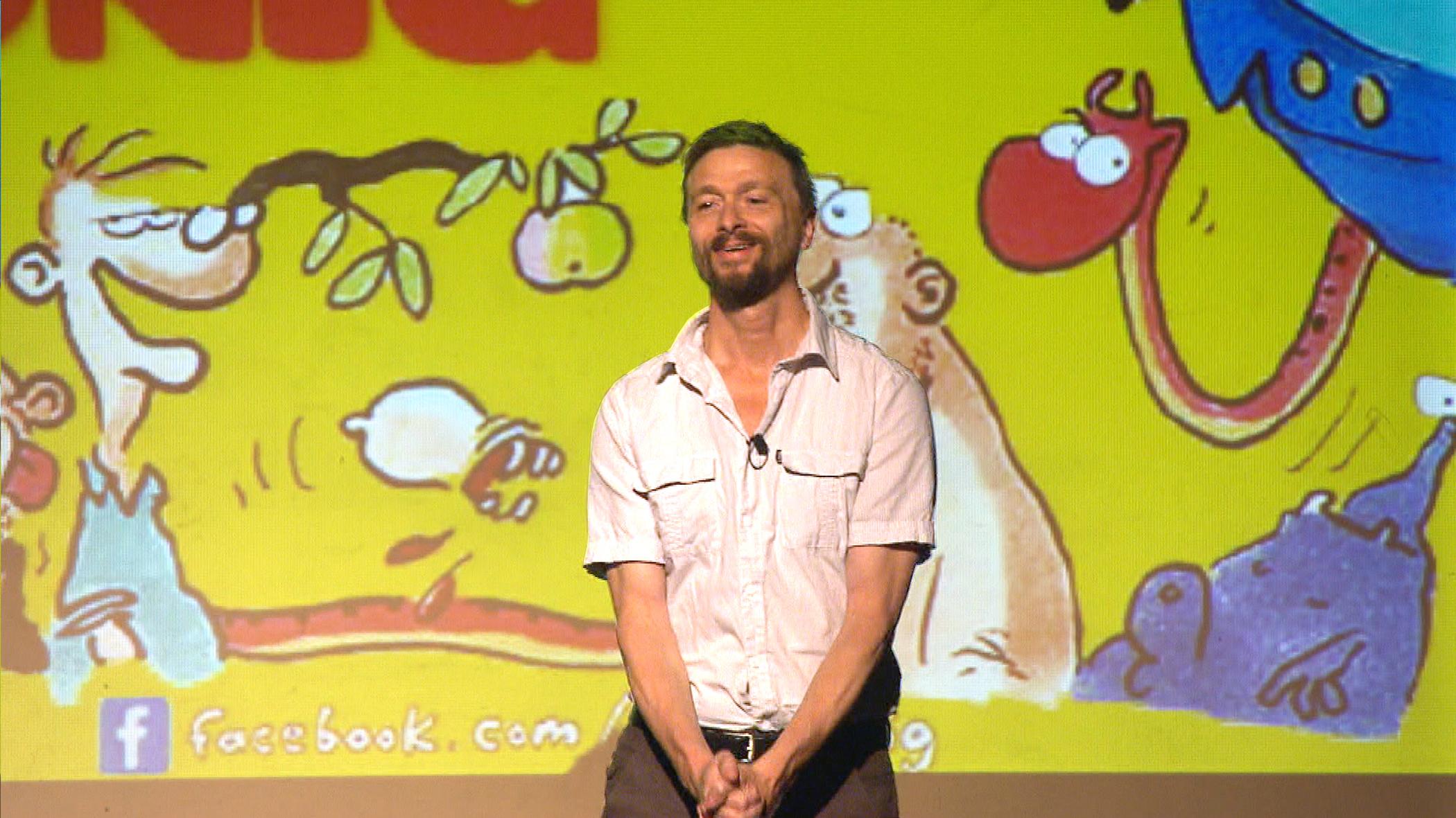 Fotograma de la película Ralf König, rey de los cómics