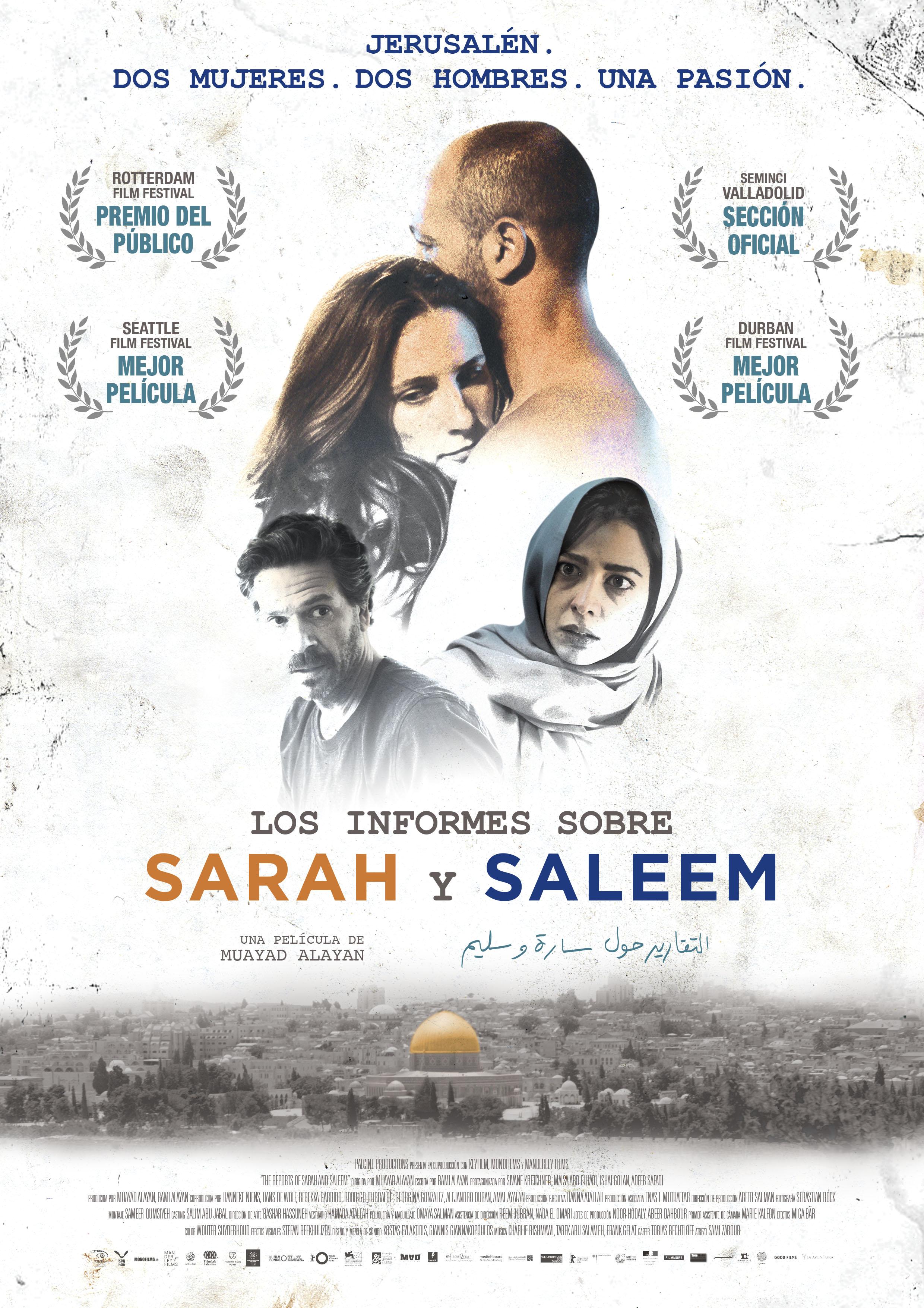 Cartel Los informes sobre Sarah y Saleem