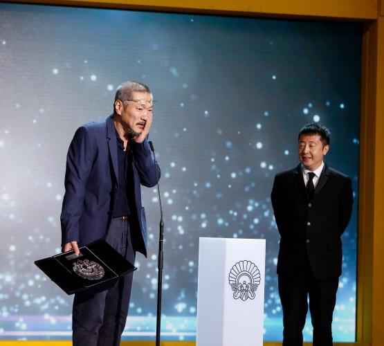 Concha de Plata al Mejor Director (Hong Sangsoo) por LO TUYO Y TÚ (Festival Internacional de Cine de San Sebastián 2016). Foto: Montse Castillo